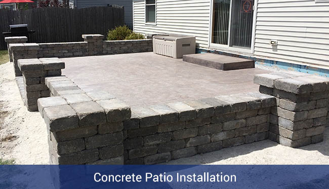 Concrete Patio Installation - Nate Lawler Concrete