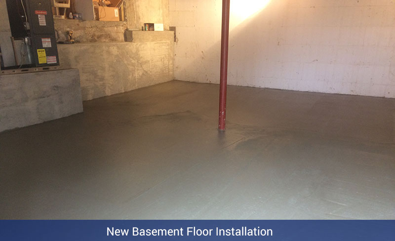 New Basement Floor Installation - Nate Lawler Concrete